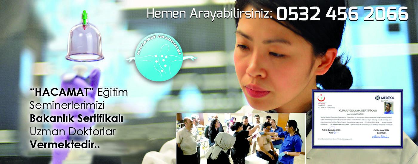 HACAMAT AKADEMİSİ organizasyonunda Tıp Doktoru Hamit BÖRÜ tarafındanHacamat ve sülük kursları verilmekte.: 0532 456 2066